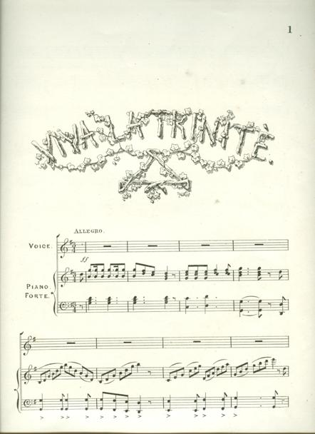 Viva la Trinité by a member of the UBC, c.1870, at UL: MRA.290.85