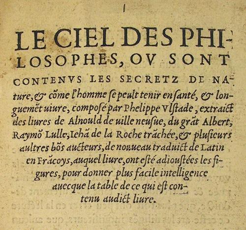 Title page of Ulstad's Le ciel des philosophes (5000.d.114).