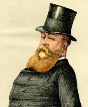Caricature of Hugh Childers