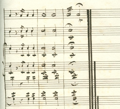 T.A. Walmisley, Ode (1835). Final page (detail)