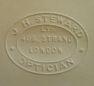 Embossed stamp of J. H. Steward Ltd.