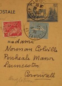Claudel postcard address