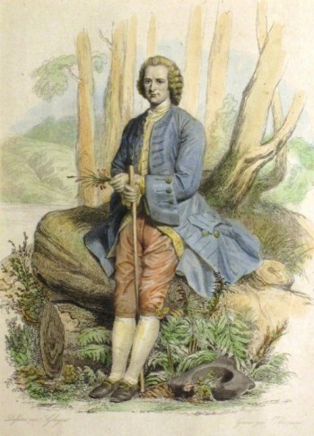 A portrait of Rousseau