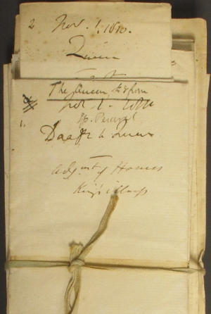 Letters from the Spencer Perceval papers