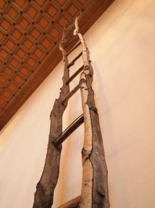One of Ian Starsmore's ladders in the Entrance Hall.