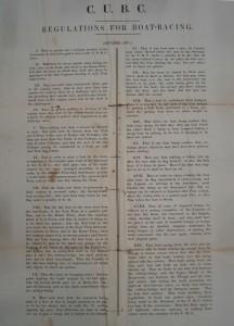 CUBC regulations, 1851