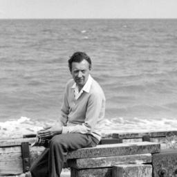Britten on Aldeburgh Beach, 1959