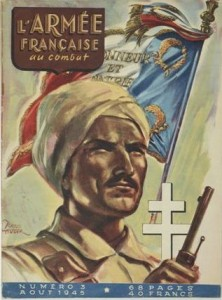 The cover of 'L'Armée Française au combat', No. 3, août 1945. Illustration by Raoul Auger.