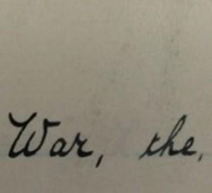 War, the