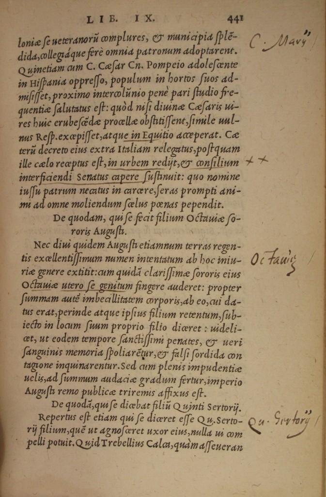 Harvey's annotations in Valerius (Adv.d.8.1)