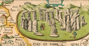 Stonehenge from the map of Wiltshire