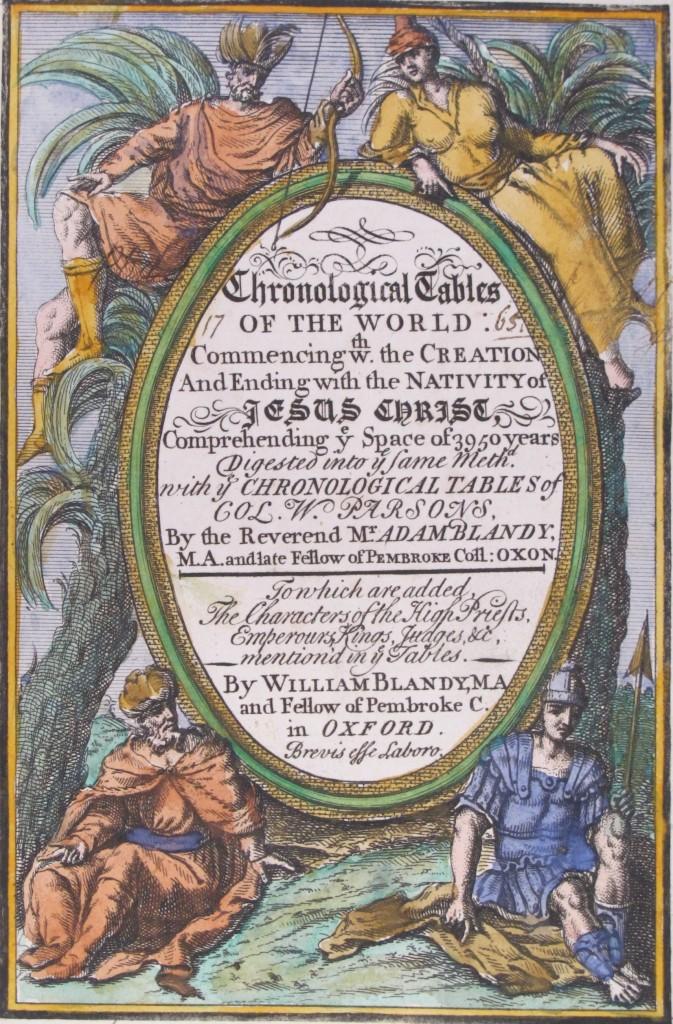 Blandy's Chronological tables (?London, ?1727), CCE.66.17
