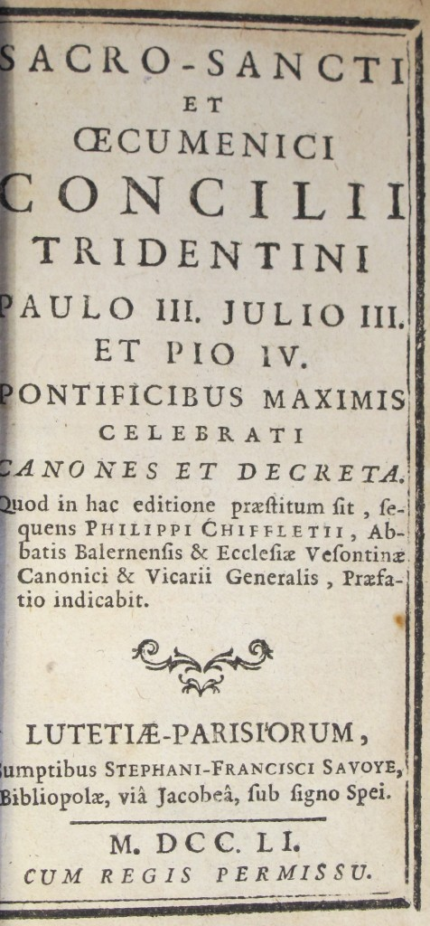 Sacro-sancti et œcumenici Concilii Tridentini (7000.e.454)