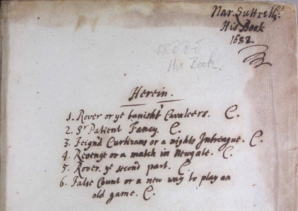Narcissus Luttrell's inscription in Brett-Smith.74