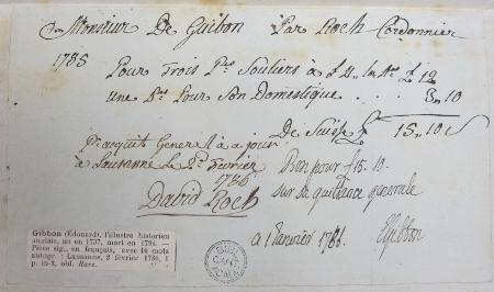Gibbon's bootmaker's bill