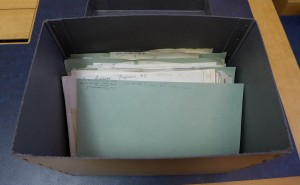 Author files as they arrive in the library