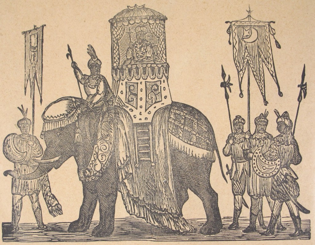 """An elephant from the """"Panorama of the Lord Mayor's Show"""" (c. 1890) at the shelfmark 1915.9.178(12)"""