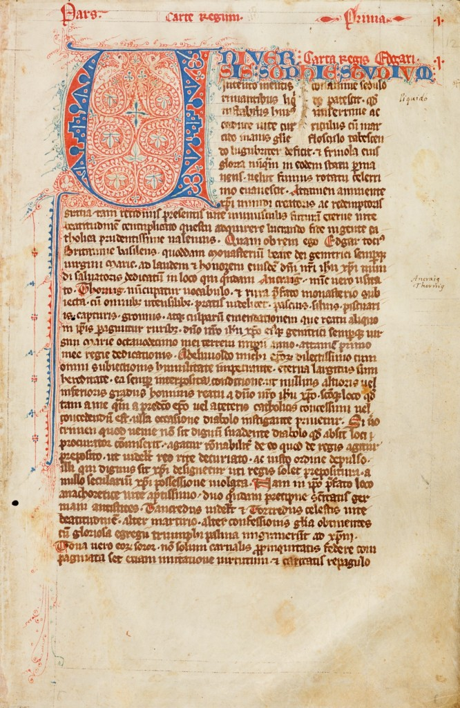 Red Book of Thorney (CUL MS Add. 3020)