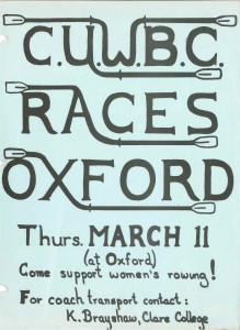 Poster for the Women's Boat Race 1976 (UA CUWBC 3/4)