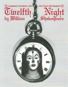Poster for production of Twelfth Night, performed 4-8 October 1994 (image courtesy of CUADC)
