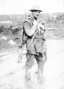 Y3062S_30 [A Canadian soldier comes out of the trenches], 1914-18