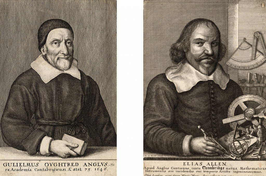 William Oughtred and Elias Allen, portraits by Wenceslaus Hollar. Public domain.