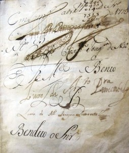 Inscriptions on the first flyleaf of As Obras do Doctor Francisco de Saa de Miranda (6000.d.240)