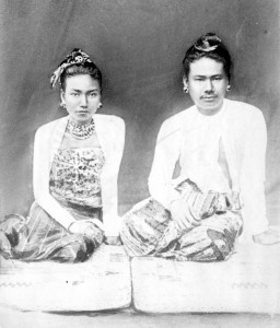 Thibaw, the last King of Burma (1878-85), and his wife Supyalat, c 1878-80, RCS Y3029D_1