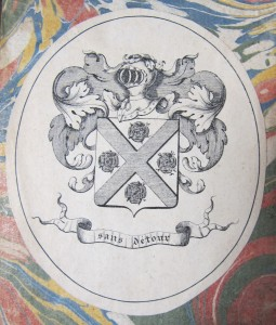 Bookplate of the Briant de Laubrière family in Histoire de Madame de Luz