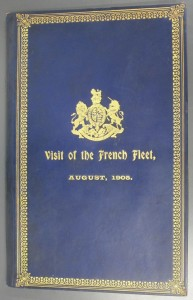 Front cover of Visit of the French fleet(1906, below)