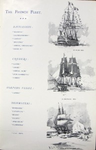 Historic French warships, from Visit of the French Fleet (1905)