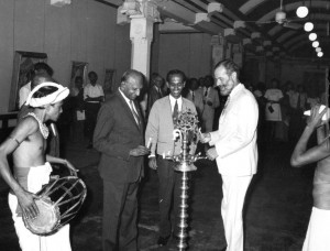 Opening an art exhibition, Sri Lanka, 1973, RCMS 389 7_1