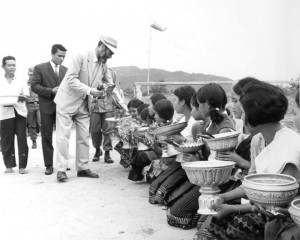 Collecting gifts, Laos, 1969, RCMS 389_5_2