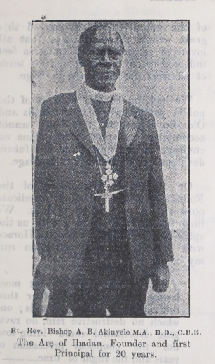 Founder and first Principal of Ibadan Grammar School