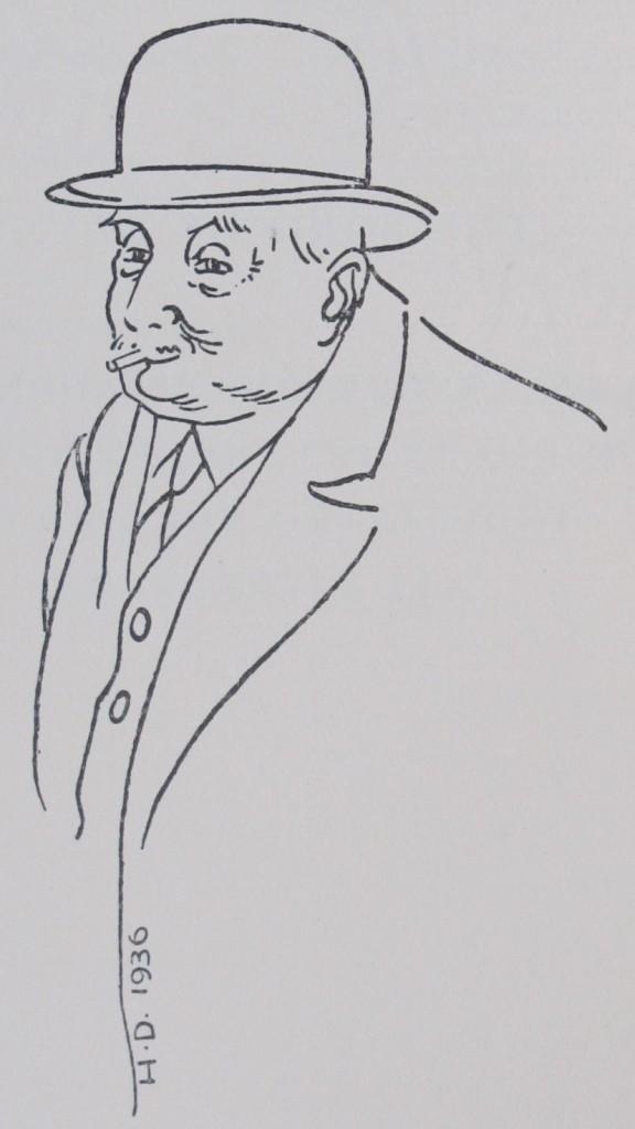 G. David, drawn by son Hubert in 1936 (Broxbourne.d.87)