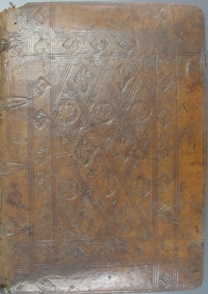 English stamped binding c. 1500 on Inc.3.A.2.15[3742]