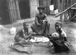 Gold-weighers, Ivory Coast, 1892, Monnier