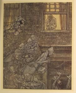 Charles Dickens (1812-1870); Arthur Rackham (1867-1939), illustrator A Christmas Carol  (London: William Heinemann, 1915) 1916.8.75