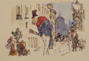 Quentin Blake (b. 1932), illustrator Quentin Blake's A Christmas Carol  (London: Pavilion, 2016)