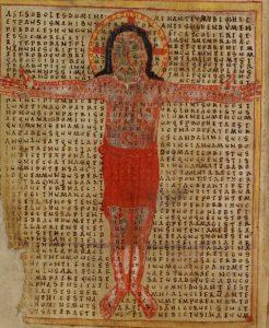 Rabanus Maurus, De laude sanctae crucis (CUL MS Gg.5.35, fol. 211v)