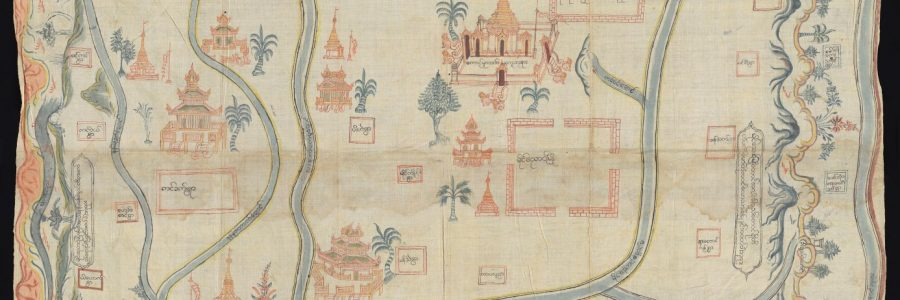 "Extract from Maps.Ms.Plans.R.c.1 ""Map of the Maingnyaung region"" ca. 1860"