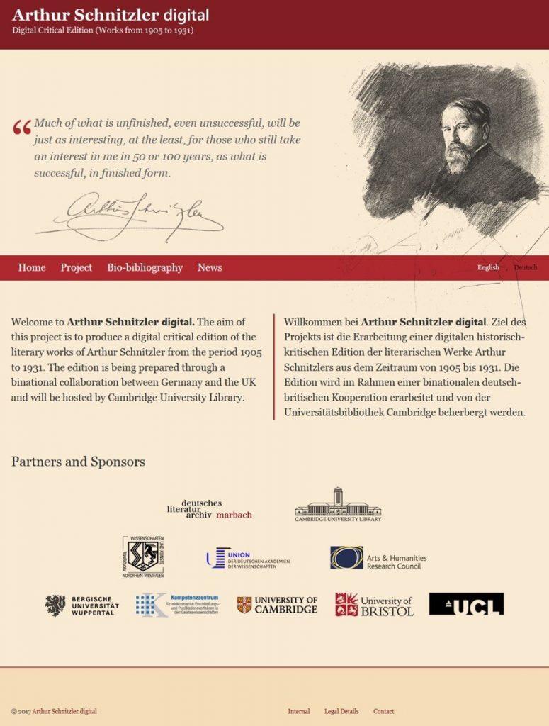 Schnitzler homepage