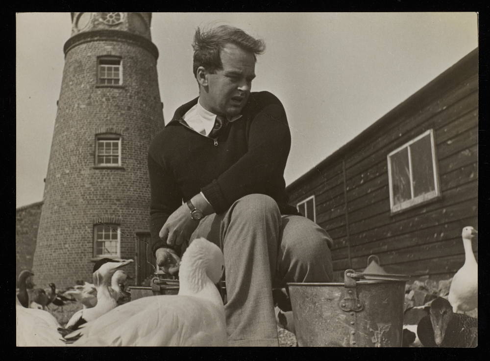 Sir Peter Scott at East Lighthouse, Suffolk