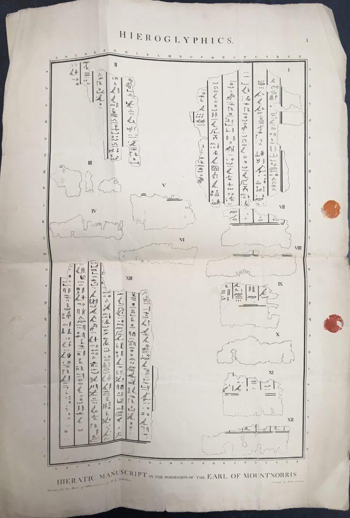 Proof sheet of hieroglyphs