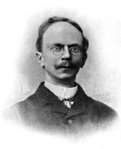 Portrait of Elias Gibb from a photograph of taken about 1896–99